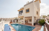 200-0120, Superb, Three Bedroom Detached Villa With Solarium & Private Pool In Los Dolses, Orihuela Costa.
