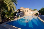 100-2063, Impressive, Traditional Style, Three Bedroom Detached Villa With 10 x 6 Private Pool & A large 800m2 Plot In Ciudad Quesada