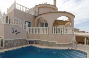 Ref:100-2167-Three Bedroom Detached Villa With private Pool In Atalaya, Rojales.-Alicante-Spain-Villa-Resale